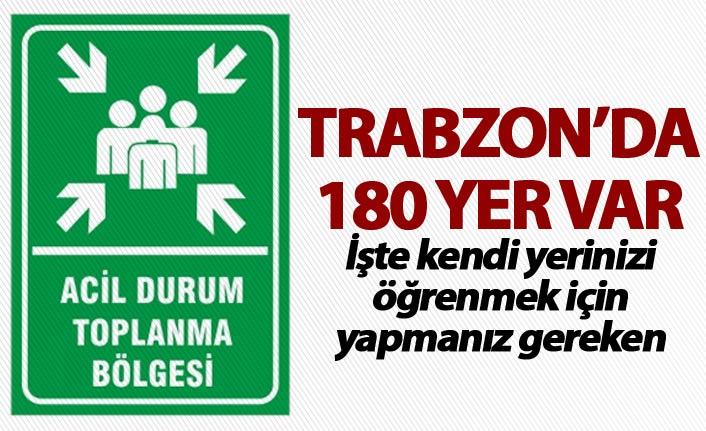 Trabzon'da toplanma alanları nereler?