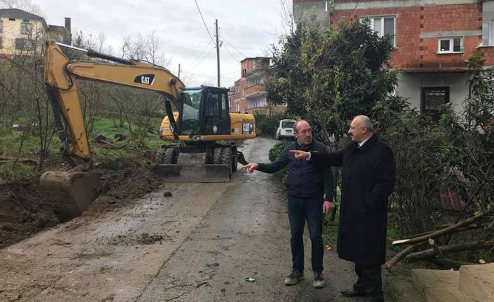 Araklı'da üst yapı çalışmaları devam ediyor
