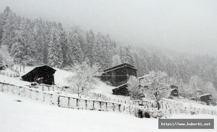Rize'de kar hayatı olumsuz etkiliyor