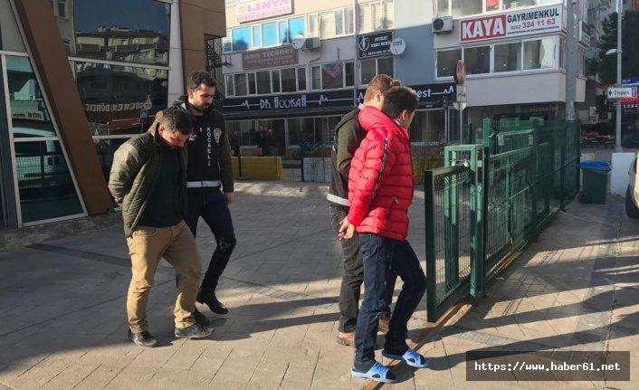 Keserle PTT binasını soyan 2 hırsız tutuklandı