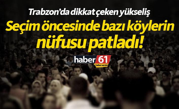 Trabzon'da seçim öncesi köylerde nüfus patlaması