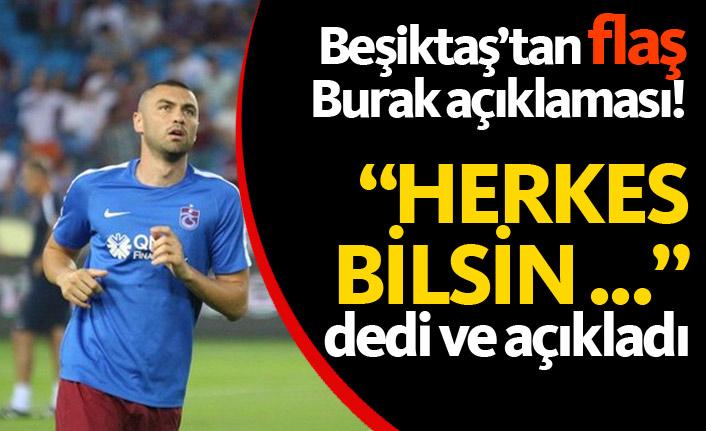 Beşiktaş'tan flaş Burak açıklaması