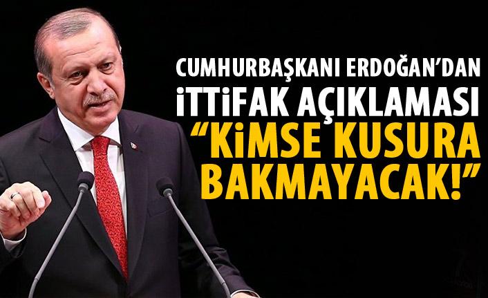 Cumhurbaşkanı Erdoğan'dan Cumhur İttifaı açıklaması!