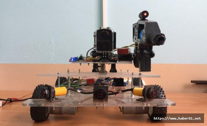 Öğrenciler askeri robot geliştirdi