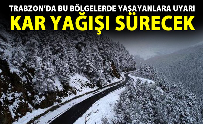Trabzon'da hava durumu 02.01.2019