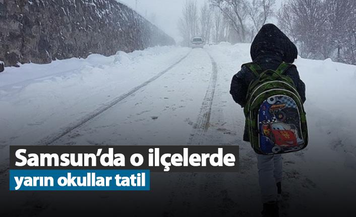 Samsun'da o ilçelerde yarın okullar tatil!