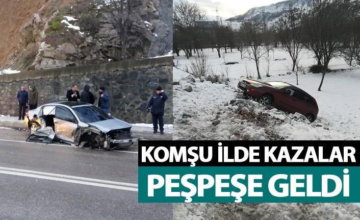 Trabzon'un komşu ilinde kazalar peşpeşe geldi