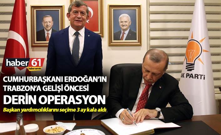 Cumhurbaşkanı Erdoğan'ın Trabzon'a gelişi öncesi derin operasyon