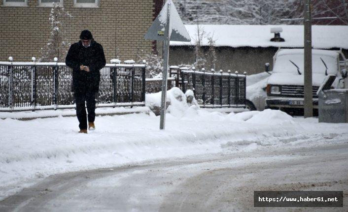 Gümüşhane'de kar köy yollarını kapattı