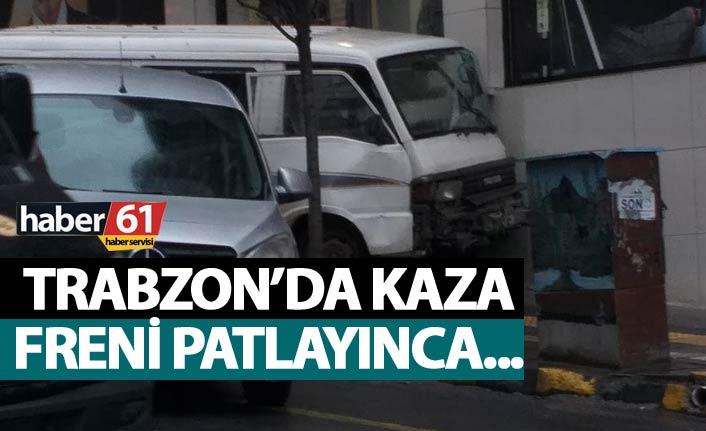 Trabzon'da kaza - Freni patlayınca...