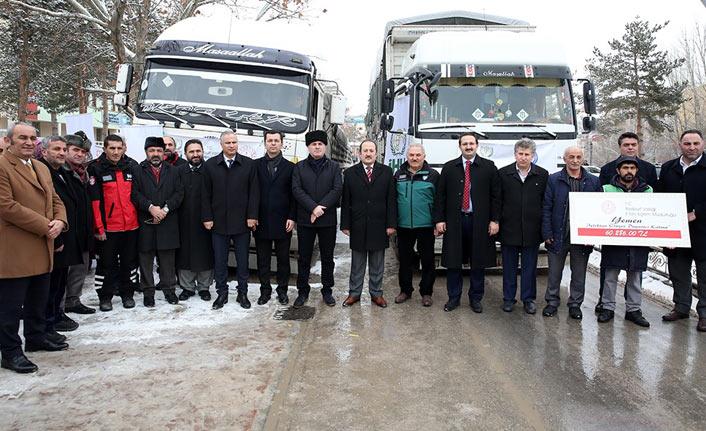 Bayburt'tan Suriye ve Yemen'e yardım eli