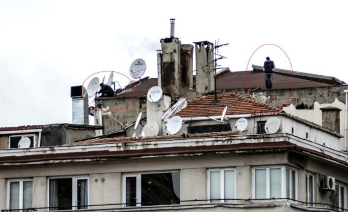 Çatıda korkutan dakikalar!