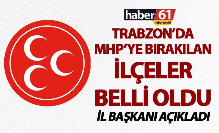 Trabzon'da MHP'ye o ilçeler verildi - İl Başkanı Açıkladı