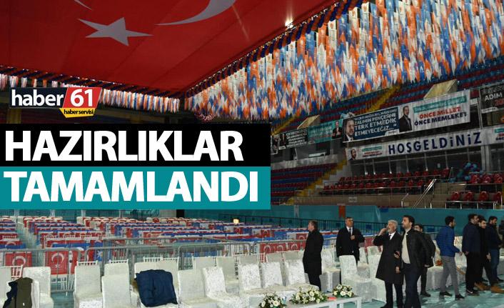 Trabzon'da Cumhurbaşkanı Erdoğan için hazırlıklar tamam