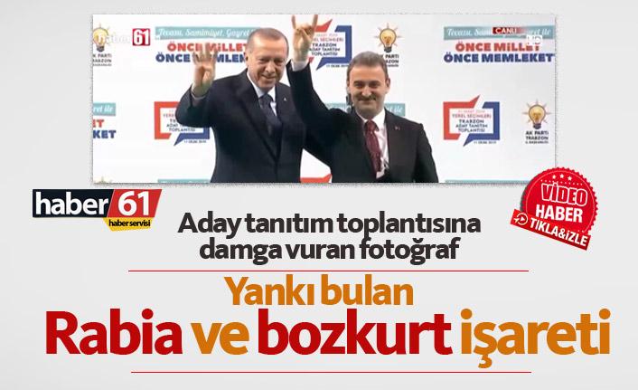 Erdoğan'dan izin aldı bozkurt işareti yaptı