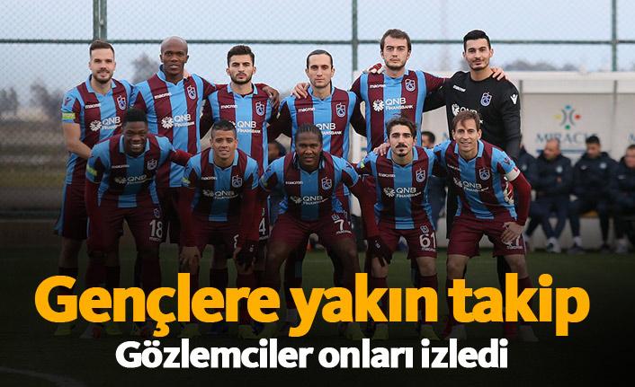 Trabzonspor'un gençleri yakın takip altında