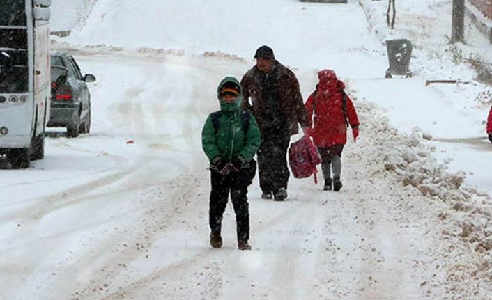Gümüşhane'de taşımalı okullar tatil edildi