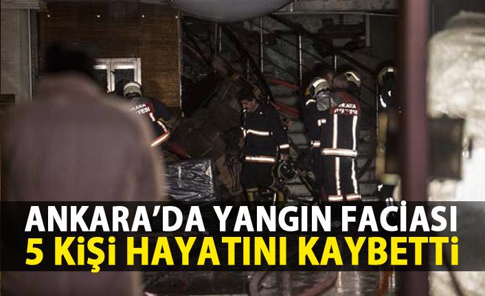 Ankara'da yangın faciası!