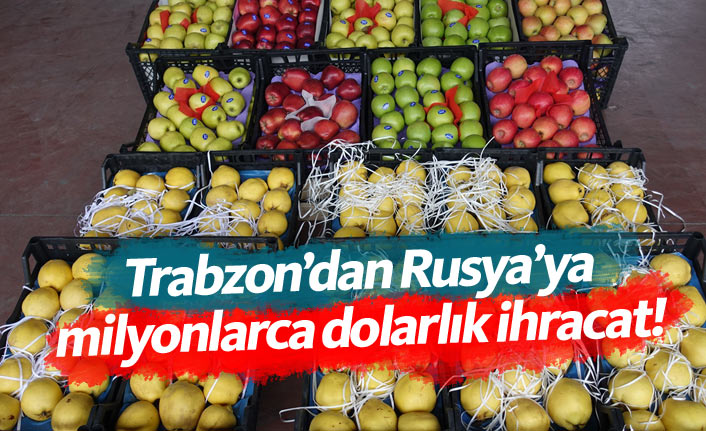 Trabzon'dan sevindiren ihracat rakamı