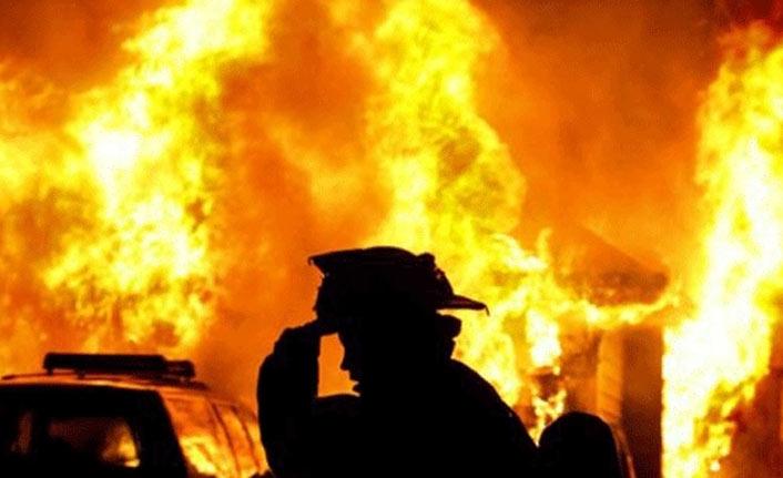 Yaşlı kadının evinde yangın çıktı!