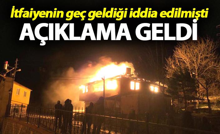 Trabzon'da Tonya'daki yangın haberlerine tepki