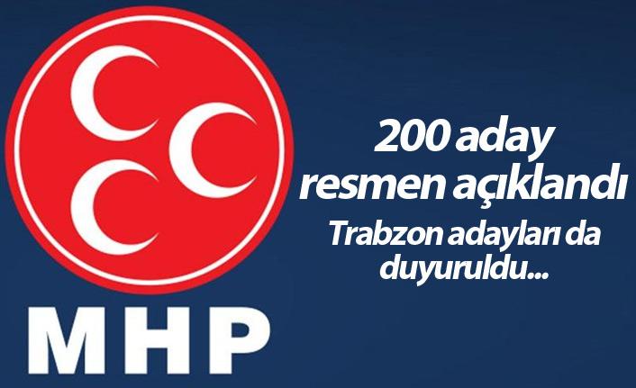MHP 200 adayını açıkladı