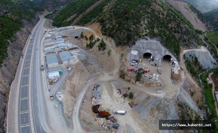Zigana Tüneli'nin inşaatı yarılandı