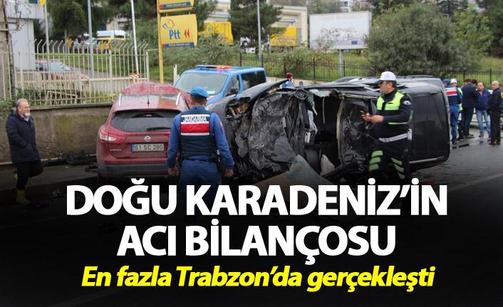 Doğu Karadeniz'in acı bilançosu - En fazla Trabzon'da gerçekleşti