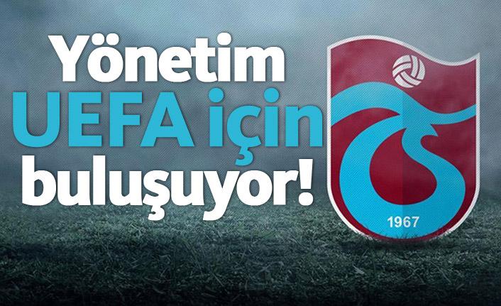 Trabzonspor'da UEFA görüşmesi