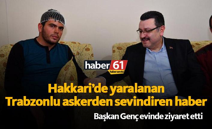 Trabzonlu gazi evine döndü, Genç ziyaret etti