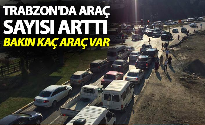 Trabzon'da araç sayısı arttı - Bakın kaç araç var