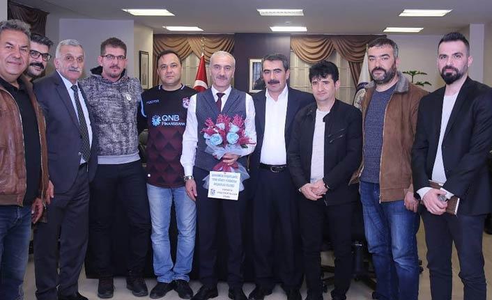 Trabzonsporlular'dan Trabzonlu Emniyet Müdürüne ziyaret