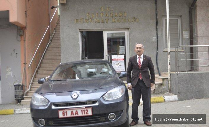 Trabzon'da 34 yıldır makam şoförlüğü yapıyor
