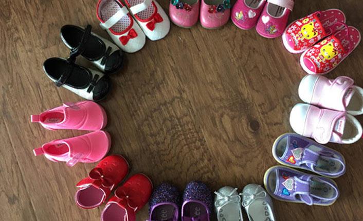 Evinden 70 çift çocuk ayakkabısı çıktı!