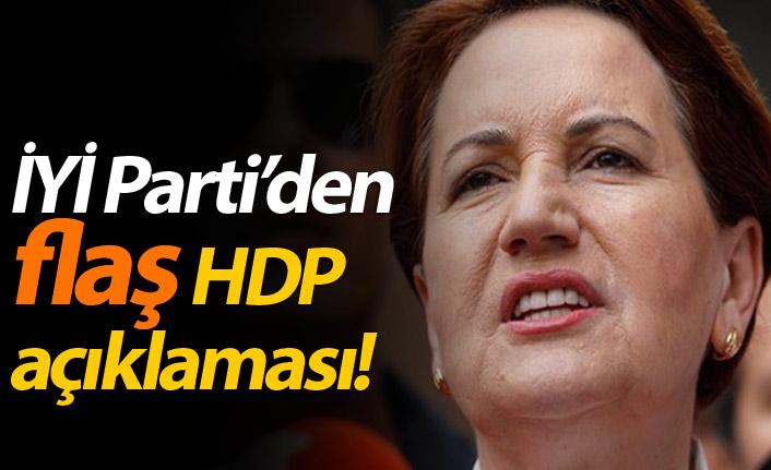 İYİ Parti'den flaş HDP açıklaması!