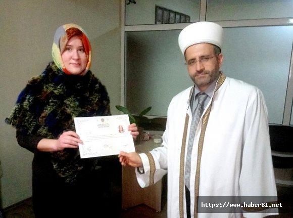 Rus Elena artık Müslüman Aleyna!