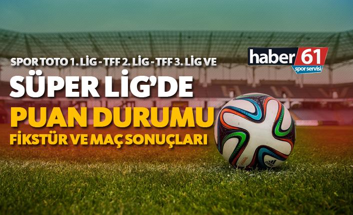 Spor Toto Süper Lig - 1. Lig - 2. Lig - 3. Lig | Puan Durumu, Fikstür ve Maç Sonuçları