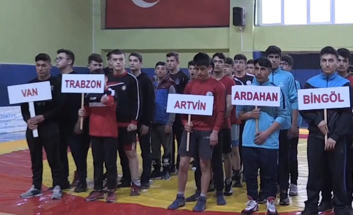 Artvin'de güreş heyecanı yaşandı