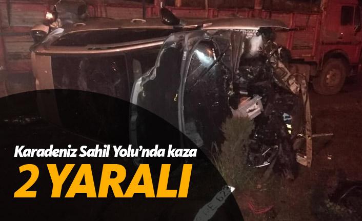 Karadeniz Sahil Yolu'nda kaza: 2 yaralı