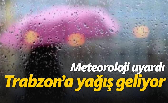Meteoroloji uyardı, Trabzon'a yağış geliyor