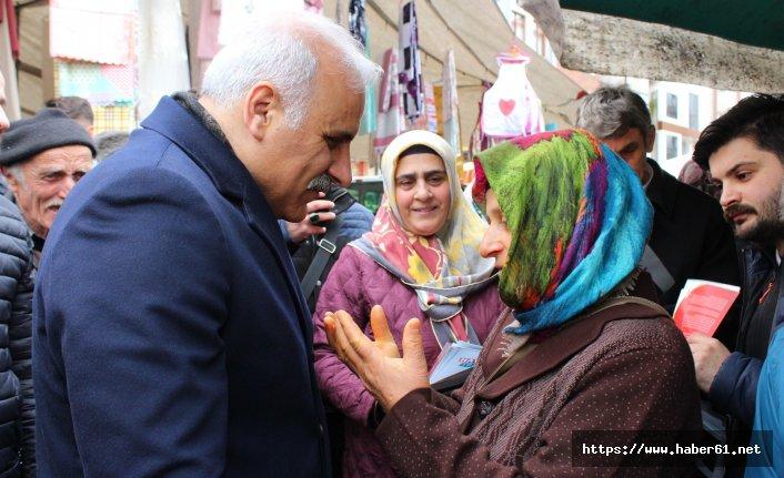 Murat Zorluoğlu Sürmene'de destek istedi: Seçime günler kala her saatin önemi var