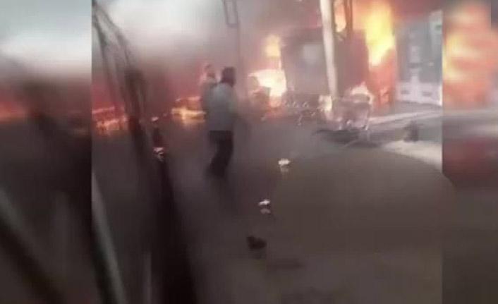 Tren istasyonunda yangın faciası: 20 ölü