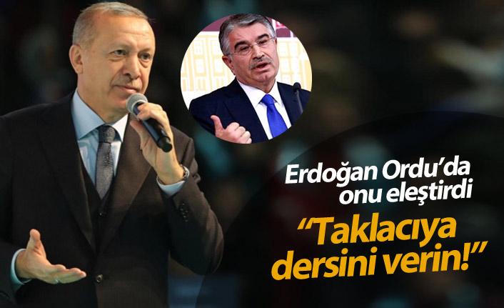 Erdoğan Ordu'da Şahin'e gönderme yaptı