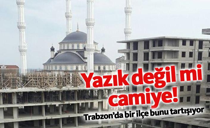 Trabzon'da cami - inşaat tepkisi