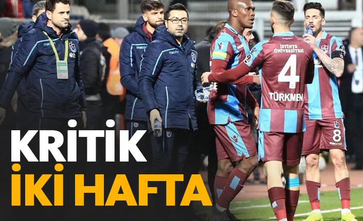 Trabzonspor için iki kritik hafta