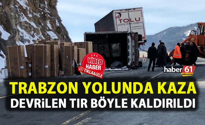 Trabzon – Gümüşhane yolunda kaza! Trafiğe kapandı!