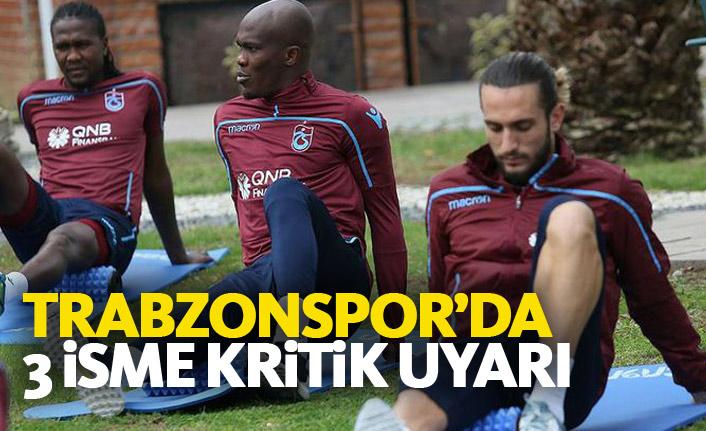 Trabzonspor'un 3 yıldızına kart uyarısı
