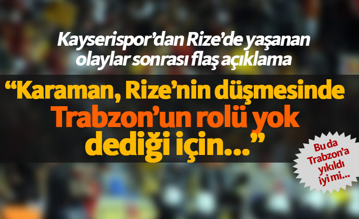 Rizespor'dan hayrete düşüren Trabzonspor çıkışı!