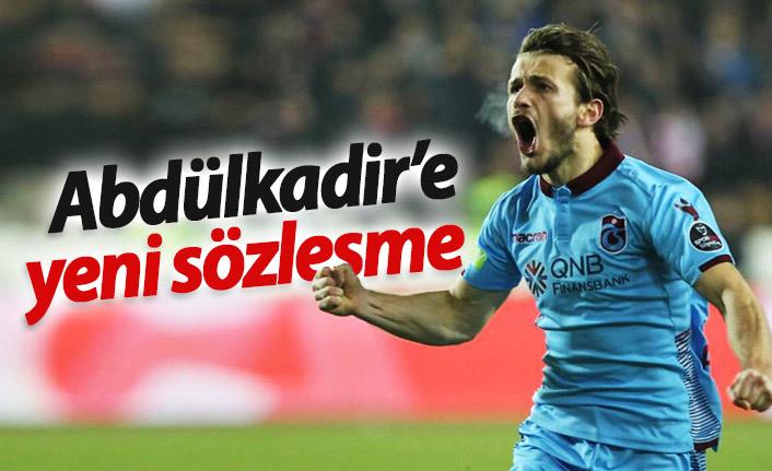 Trabzonspor'da Abdülkadir'e yeni sözleşme