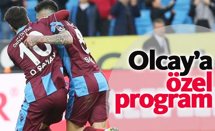 Trabzonspor'da Olcay'a özel antrenman